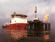 Oil Rig & Supply Ship